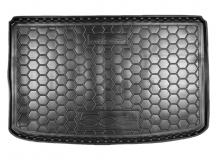 Коврик в багажник Fiat 500L /2012+/. Резиновый коврик багажника Фиат 500Л [Avto-Gumm]