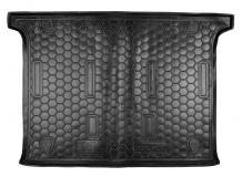 Коврик в багажник Fiat Doblo II /5 мест, SWB, 2010+/. Резиновый коврик багажника Фиат Добло [Avto-Gumm]