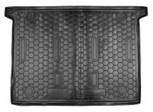 Коврик в багажник Fiat Doblo II /7 мест, SWB, 2010+/. Резиновый коврик багажника Фиат Добло [Avto-Gumm]