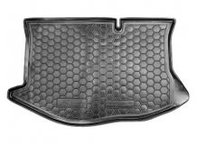 Коврик в багажник Ford Fiesta VI /2008-2012/. Резиновый коврик багажника Форд Фиеста [Avto-Gumm]