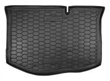 Коврик в багажник Ford Fiesta VI /2012-2016, FL/. Резиновый коврик багажника Форд Фиеста [Avto-Gumm]