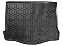 Коврик в багажник Ford Focus III /2011+, Хэтчбек, с докаткой/. Резиновый коврик багажника Форд Фокус [Avto-Gumm]