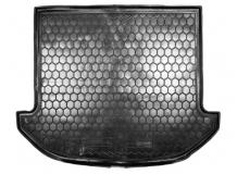 Коврик в багажник Hyundai Grand SantaFe III /7м, SWB, 2012-2014/. Резиновый коврик багажника Хюндай СантаФе [Avto-Gumm]