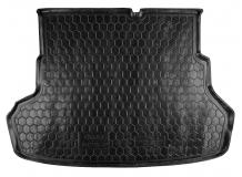 Коврик в багажник Kia Rio III /2011-2015, Седан/. Резиновый коврик багажника Киа Рио [Avto-Gumm]