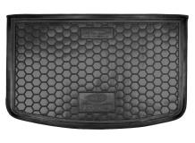 Коврик в багажник Kia Rio III /2015-2016, FL, Хэтчбек, Top/. Резиновый коврик багажника Киа Рио [Avto-Gumm]