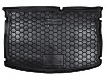 Коврик в багажник Kia Rio III /2015-2016, FL, Хэтчбек, Base & Mid/. Резиновый коврик багажника Киа Рио [Avto-Gumm]