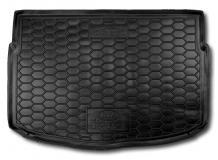 Коврик в багажник Kia Rio IV /2017+, Хэтчбек, нижняя полка/. Резиновый коврик багажника Киа Рио [Avto-Gumm]