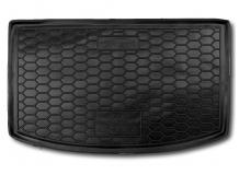 Коврик в багажник Kia Rio IV /2017+, Хэтчбек, верхняя полка/. Резиновый коврик багажника Киа Рио [Avto-Gumm]