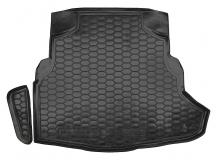 Коврик в багажник Mercedes C (W205) /2014+, Седан, с ухом/. Резиновый коврик багажника Мерседес Ц-класс [Avto-Gumm]