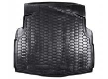 Коврик в багажник Mercedes C (W205) /2014+, Седан, без уха/. Резиновый коврик багажника Мерседес Ц-класс [Avto-Gumm]