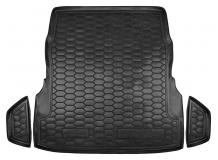 Коврик в багажник Mercedes S (W222) /2013+, с рег. сидений/. Резиновый коврик багажника Мерседес С-класс [Avto-Gumm]