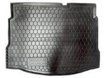 Коврик в багажник Nissan Qashqai I /с докаткой, 2010-2014/. Резиновый коврик багажника Ниссан Кашкай [Avto-Gumm]