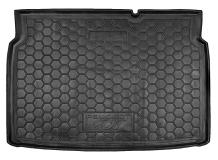 Коврик в багажник Peugeot 207 /2006-2012/. Резиновый коврик багажника Пежо 207 [Avto-Gumm]