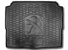 Коврик в багажник Peugeot 3008 II /2017+, нижняя полка/. Резиновый коврик багажника Пежо 3008 [Avto-Gumm]