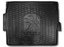 Коврик в багажник Peugeot 3008 II /2017+, верхняя полка/. Резиновый коврик багажника Пежо 3008 [Avto-Gumm]
