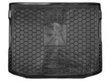 Коврик в багажник Peugeot 4008 /2012-2017/. Резиновый коврик багажника Пежо 4008 [Avto-Gumm]