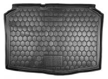 Коврик в багажник Skoda Fabia II /Хэтчбек, 2007-2014/. Резиновый коврик багажника Шкода Фабия [Avto-Gumm]