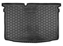Коврик в багажник Skoda Fabia III /Хэтчбек, 2014+/. Резиновый коврик багажника Шкода Фабия [Avto-Gumm]