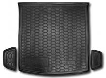 Коврик в багажник Skoda Kodiaq /2017+, 5 мест/. Резиновый коврик багажника Шкода Кодьяк [Avto-Gumm]