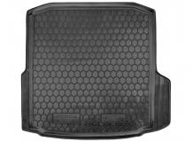 Коврик в багажник Skoda Octavia A7 /Лифтбек, без усил., 2013+/. Резиновый коврик багажника Шкода Октавия А7 [Avto-Gumm]
