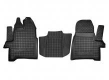 Коврики в салон Ford Tourneo Custom /2012+, 1+1/. Резиновые коврики салона Форд Торнео Кастом [Avto-Gumm]