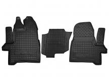 Коврики в салон Ford Tourneo Custom /2012+, 1+2/. Резиновые коврики салона Форд Торнео Кастом [Avto-Gumm]