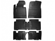 Коврики в салон Hyundai Grand SantaFe III /2014-2018/. Резиновые коврики салона Хюндай СантаФе [Avto-Gumm]