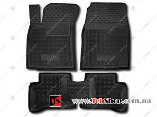 Коврики в салон Hyundai Ioniq Hybrid /2016+/. Резиновые коврики салона Хюндай Ионик Гибрид [Avto-Gumm]