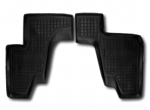 Коврики в салон Mercedes GL (X166) /2012+, 3 ряд/. Резиновые коврики салона Мерседес ГЛ-класс [Avto-Gumm]