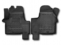 Коврики в салон Opel Vivaro II /2014+, передние/. Резиновые коврики салона Опель Виваро [Avto-Gumm]