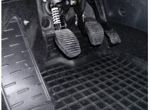 Коврики в салон Peugeot Partner II /2008-2018, с подлокотником/. Резиновые коврики салона Пежо Партнер [Avto-Gumm]