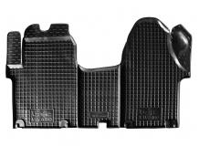 Коврики в салон Renault Trafic II /2001-2014/. Резиновые коврики салона Рено Трафик [Avto-Gumm]