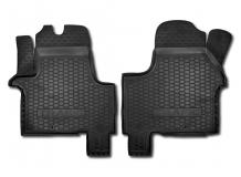 Коврики в салон Renault Trafic III /2014+, передние/. Резиновые коврики салона Рено Трафик [Avto-Gumm]