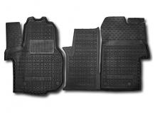Коврики в салон Volkswagen Crafter II /2017+, 1+1/. Резиновые коврики салона Фольксваген Крафтер [Avto-Gumm]