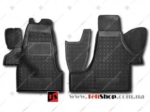 Коврики в салон Volkswagen Transporter T5 /2003-2015, 1+2/. Резиновые коврики салона Фольксваген Транспортер [Avto-Gumm]