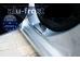 Накладки на пороги Chevrolet Aveo II (T300) /2012+, Седан, Хэтчбек/. Накладки порогов Шевроле Авео [Alu-Frost]