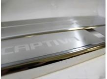 Накладки на пороги Chevrolet Captiva /FL, 2011+/. Накладки порогов Шевроле Каптива [NataNiko]