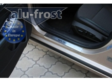 Накладки на пороги Chevrolet Malibu /2012+/. Накладки порогов Шевроле Малибу [Alu-Frost]