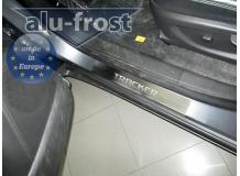 Накладки на пороги Chevrolet Tracker III /2013+/. Накладки порогов Шевроле Трекер [Alu-Frost]