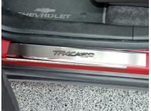 Накладки на пороги Chevrolet Tracker III /2013+/. Накладки порогов Шевроле Трекер [NataNiko]