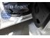 Накладки на пороги Citroen Berlingo II /2008+/. Накладки порогов Ситроен Берлинго [Alu-Frost]