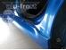 Накладки на пороги Citroen C1 I /Хэтчбек, 2005-2014/. Накладки порогов Ситроен С1 [Alu-Frost]