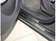 Накладки на пороги Citroen C3 Picasso /2009+/. Накладки порогов Ситроен С3 Пикассо [NataNiko]