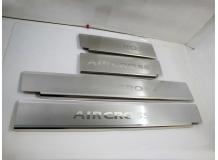 Накладки на пороги Citroen C4 Aircross /2012+/. Накладки порогов Ситроен С4 Айркросс [NataNiko]
