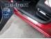 Накладки на пороги Citroen C4 I /3D, 2004-2010/. Накладки порогов Ситроен С4 [Alu-Frost]