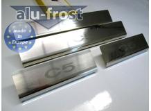 Накладки на пороги Citroen C5 II /2008+/. Накладки порогов Ситроен С5 [Alu-Frost]