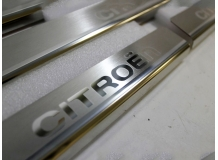 Накладки на пороги Citroen C-Elysee II /2013+/. Накладки порогов Ситроен Си-Элизе [NataNiko]