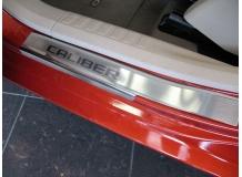 Накладки на пороги Dodge Caliber /2006-2012/. Накладки порогов Додж Калибер [NataNiko]