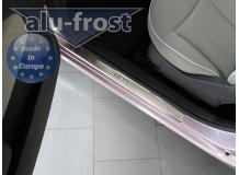 Накладки на пороги Fiat 500 /2007+/. Накладки порогов Фиат 500 [Alu-Frost]