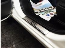 Накладки на пороги Fiat 500L /2012+/. Накладки порогов Фиат 500Л [NataNiko]